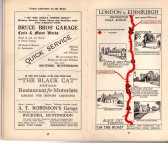 Robinson's Garage, Buckden advert - in the 'On the Road Dunlop Pictorial Road Plans Book, 1926