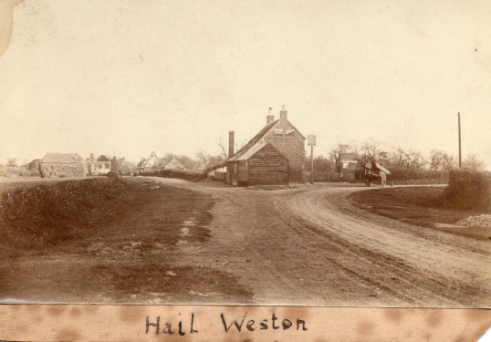 The Crown Public House in Hail Weston - date unknown