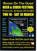 Beer Festival March 16th-18th 2017