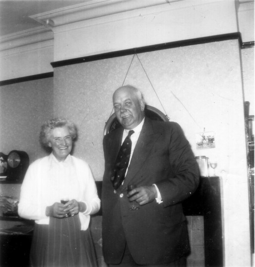 Bill Brightman and his wife Mary at 34 Duloe Road, Eaton Ford