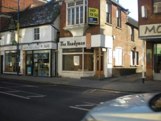 The Handyman, 22 High Street - empty and up for sale - date unsure