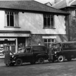Budd the baker's van outside their shop - around 1958
