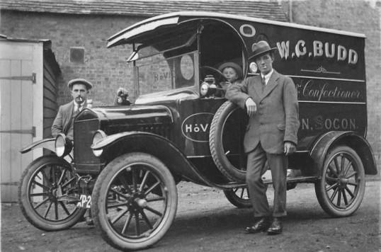 Budd the Baker's van in Eaton Socon - 1920s