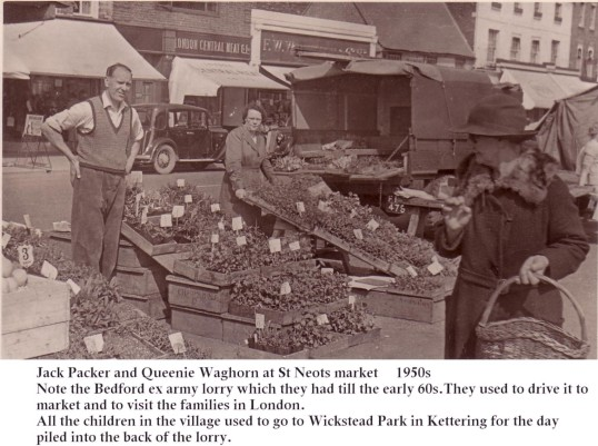 Market Day in the 1950s in St Neots Market