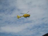 Air ambulance above Regatta Meadow - August 2015