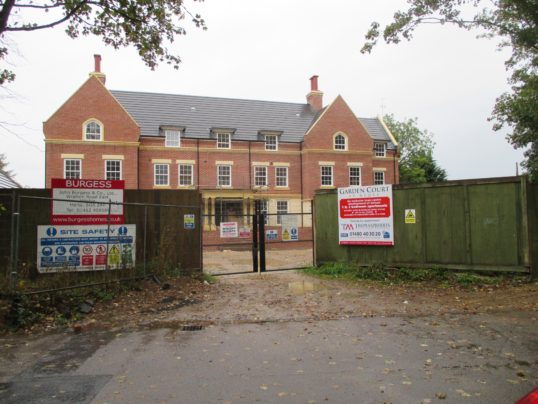 Garden Court - the new housing in Cemetery Lane, St Neots - 6th Oct 2014