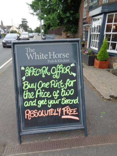 Free pint at the White Horse in Eaton Socon ! - June 2017