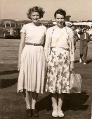 Stetchworth residents Iris Stockwell (nee Wilson) and Mary Nunn at the seaside.