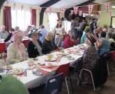 Stetchworth residents celebrating the Royal Wedding of Prince William and Catherine Middleton at the Ellesmere Centre.