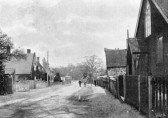 View of the High Street, Stetchworth.  The Chapel is on the right.