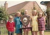 Members of the Stetchworth Congregational Chapel Sunday School winning the Scripture Exam Shield.