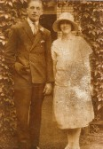 Florence Marsh on her wedding day at Stetchworth Church.