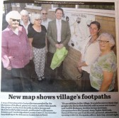 Unveiling of the Stetchworth Walks Map