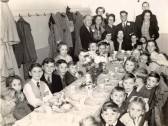 Victory in Japan day children's tea party in Swavesey. Chilsren's VE and VJ Day parties