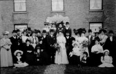 Burling - Metcalfe  wedding party at Boxworth End, Swavesey.. Description