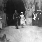 World War One wedding at Swavesey Church.. Description