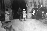 World War One wedding at Swavesey Church.. Description