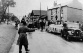 Coronation  Parade  for Queen Elizabeth 11. 1953,  Boxworth End, Swavesey.. Description