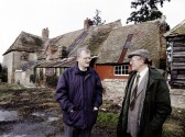 Ryders farmhouse, Swavesey, in 1993 with John Shepperson and John Dyer. Description