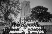 Swavesey Choir, Ascension Day 1909.. Description