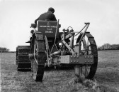 Rear view of an International B.T.D.6 & Ransome mole drainer on Boxworth End Farm, Swavesey.. Description