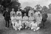 Swavesey cricket team in 1913.. Description