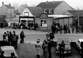 Opening the original MG Owners Club headquartersin Station Road Swavesey.. Description