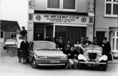 In front of the MG Owners Club headquarters in Station Road Swavesey. Description
