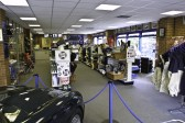 Shop interior in the MG Owners Clubs new headquarters in Swavesey.. Description