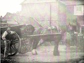 Kennell Caterers cart at rear of 77 High Street, Upwood. The Kennell family ran a carting business in Upwood. They lived at 77 High Street Upwood. The cott