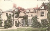 Postcard of Upwood House.  Picture dated according to postal rate shown (1/2d inland, 1d foreign). List of Owners of Estate and Buildings at Upwood House.