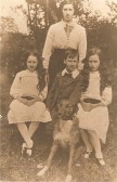 Gaunt family from Upwood.  Florence (back), Grace, Fred, Nellie(L to R). The family grouping shows left to right:<br> Florence K