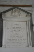 Memorial tablet in Woodwalton Church.  For Sir Richard Hussey Hussey, of Upwood House.