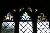 Upwood Church.  West window of south aisle.  Remains of 15th century window.