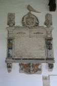 Upwood Church.  Memorial to Peter Pheasant; owner of Upwood House in 17th century.