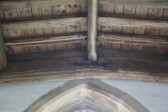 Upwood Church.  Date 1642 - when the replacement wooden roof was fitted.