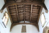 Upwood Church.  Wooden roof added in 1642 when height raised and extra windows added.