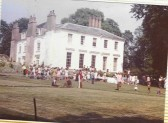 Photo of the Viage Fete held at the Upwood House, 1975.