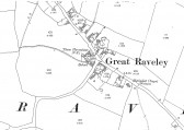 1901 Map of Great Raveley