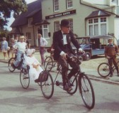 The Peterborough Vintage cycle club visit the Village