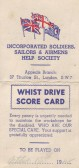 A Whist Drive Score card cover