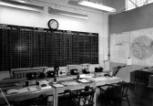 A photo inside The Ops room at RAF Upwood