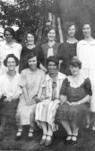 A Group of women at the rear of 77 High Street Upwood