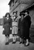 The Pryke sisters with Nellie & Grace Gaunt