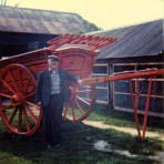 One of the Murfin brothers and the last cart they made