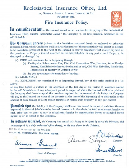 Page 2 of the School insurance details