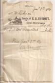 Receipt for coal from E. R. Everitt, 02 Jan 1904.