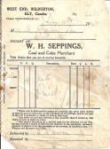 W. H. Seppings, Coal and Coke Merchant , West End - receipt dated 11th Dec 1940.