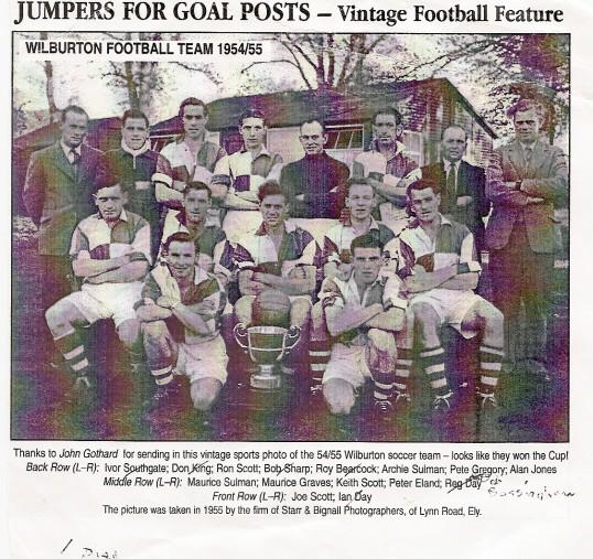 Wilburton Football Team 1954-1955