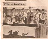 Wilburton school investiture parade